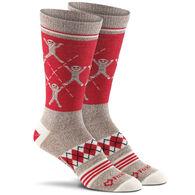 Fox River Mills Women's Monkey Argyle Lightweight Knee High Sock