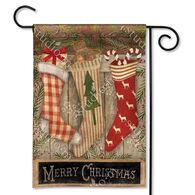 BreezeArt Christmas Stockings Decorative Garden Flag