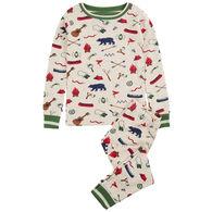 Hatley Boy's Summer Camp Organic Cotton Pajama Set