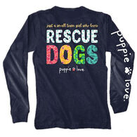 Puppie Love Women's Small Town Girl Rescue Dogs Long-Sleeve T-Shirt
