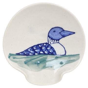 Great Bay Pottery Handmade Stoneware Spoon Rest