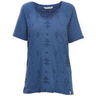 Woolrich Women's Bell Canyon Embroidered Organic Cotton Short-Sleeve Shirt