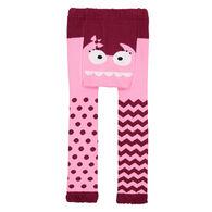 Doodle Pants Toddler Girls' Pink Monster Legging