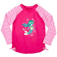 Hatley Girl's Sweet Mermaid Long-Sleeve Rashguard