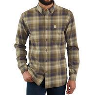 Carhartt Men's Big & Tall Rugged Flex Hamilton Plaid Long-Sleeve Shirt