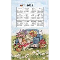 Kay Dee Designs 2022 Flower Truck Calendar Towel