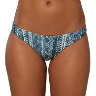 O'Neill Women's Rockley Westerly Floral Bungalow Stripe Revo Classic Bikini Bottom