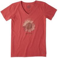 Life is Good Women's Sunflower Crusher Vee Short-Sleeve Shirt