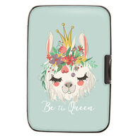 Fig Design Women's Be The Queen Llama RFID Wallet