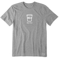Life is Good Men's Half Full Vintage Crusher Short-Sleeve Sleep T-Shirt