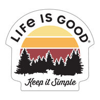 Life is Good Keep It Simple Small Die Cut Decal