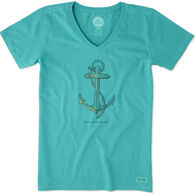 Life is Good Women's Anchor Crusher Vee Short-Sleeve T-Shirt