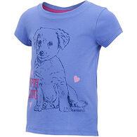 Carhartt Infant/Toddler Girls' Puppy Love Short-Sleeve T-Shirt