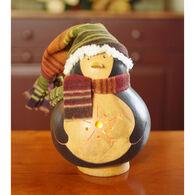 Meadowbrooke Gourds Tux Medium Lit Penguin Gourd