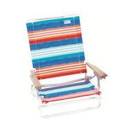 RIO Brands Denim Nation 5-Position Lay Flat Beach Chair