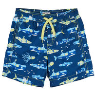 c4b7f5ed52 Hatley Toddler Boy's Animal Subs Swim Trunk
