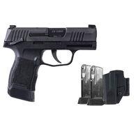 "SIG Sauer P365 Nitron Manual Safety 9mm 3.1"" 12-Round TACPAC Pistol w/ Holster & 3 Magazines"