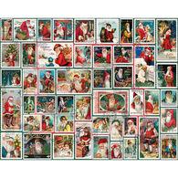 White Mountain Jigsaw Puzzle - Santa Stamps