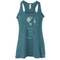 Karma Women's Because There is No Planet B Flowy Racerback Tank Top