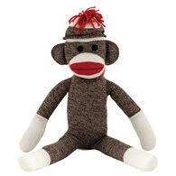 """Schylling Sock Monkey 20"""" Stuffed Toy"""