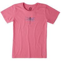 Life is Good Women's Beautiful Dragonfly Crusher Short-Sleeve T-Shirt