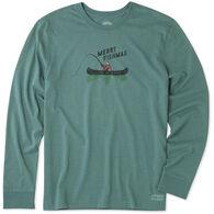 Life is Good Men's Merry Fishmas Crusher Tee Long-Sleeve T-Shirt