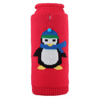 The Worthy Dog Petey The Penguin Roll Neck Dog Sweater