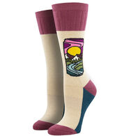 Socksmith Design Women's Atomic Child Brew With A View Crew Sock