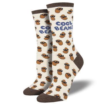 Socksmith Design Womens Cool Beans Crew Sock