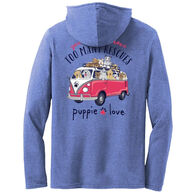 Puppie Love Women's Rescue Bus Hoodie Long-Sleeve T-Shirt