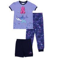 Noruk Girl's Mermaid PJ Set, 3-Piece