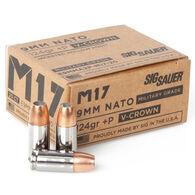 SIG Sauer M17 V Crown 9mm+P 124 Grain JHP Pistol Ammo (20)