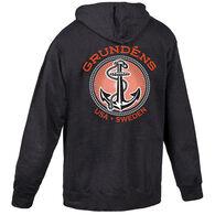 Grundens Men's Anchor Logo Full Zip Sweatshirt