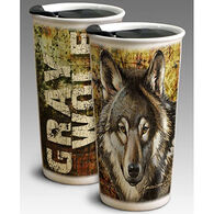 American Expedition Double Walled Grey Wolf Ceramic Travel Mug