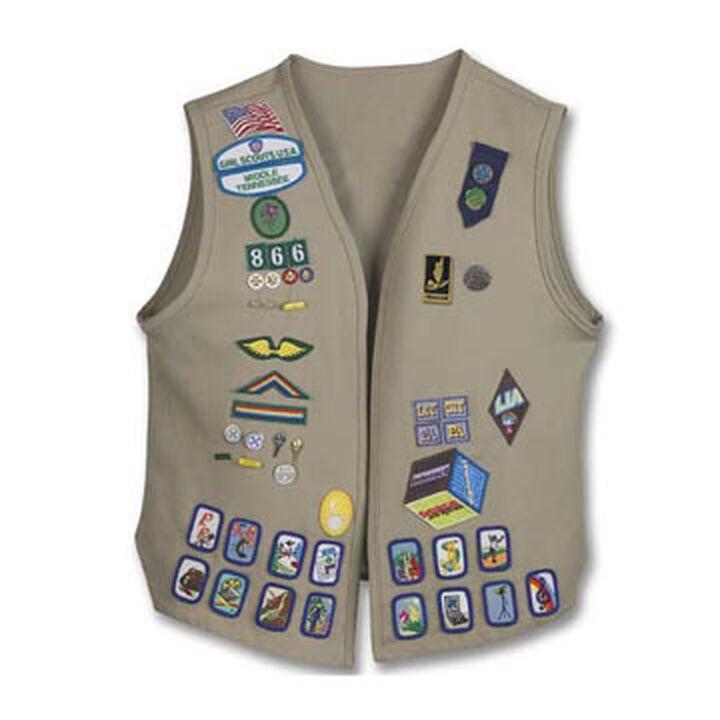 girl scouts official cadette senior ambassador vest