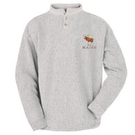 ESY Men's Moose Two Button Henley Sweatshirt