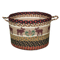 Capitol Earth Moose/Pinecone Braided Utility Basket