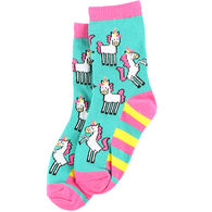 Lazy One Girl's Unicorn Sock
