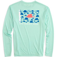 Southern Tide Men's Sailfish Fish Flag Performance Long-Sleeve Shirt