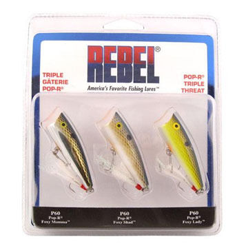 Rebel Pop-R Triple Threat Lure Set