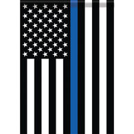 Carson Home  Accents Flagtrends Thin Blue Line Classic Garden Flag