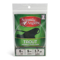Scientific Anglers Freshwater Trout Nylon Tapered Leader - 2 Pk. - Discontinued Model