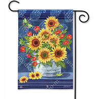 BreezeArt Denim Sunflowers Garden Flag