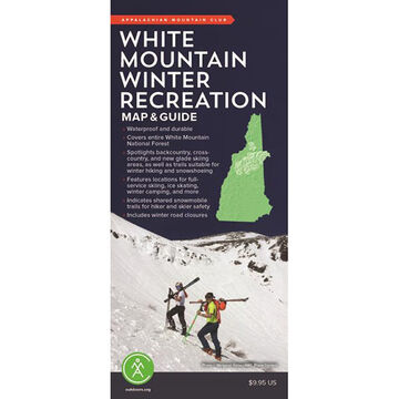 White Mountain Winter Recreation Map & Guide by Appalachian Mountain Club Books