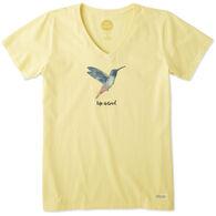 Life is Good Women's Hummingbird Crusher Vee Short-Sleeve T-Shirt