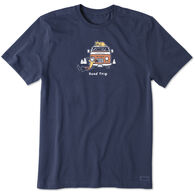 Life is Good Men's Jake and Rocket Road Trip Crusher Short-Sleeve Sleep T-Shirt