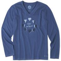 edd6f9cc2b Life is Good Women s Total Eclipse Crusher Vee Long-Sleeve T-Shirt