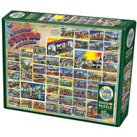 Outset Media Jigsaw Puzzle - Vintage American Postcards