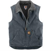 Carhartt Men's Sandstone Mock-Neck Sherpa-Lined Vest