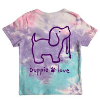 Puppie Love Youth Cotton Candy Tie Dye Short-Sleeve T-Shirt